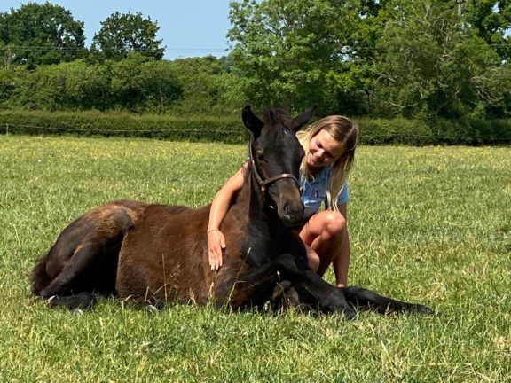 Dayna and foal